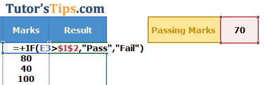 Example of If Function - Solution Step no. 4