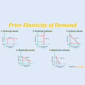 Price elasticity of Demand - Latest post on Financial Accounting, GST or Excel