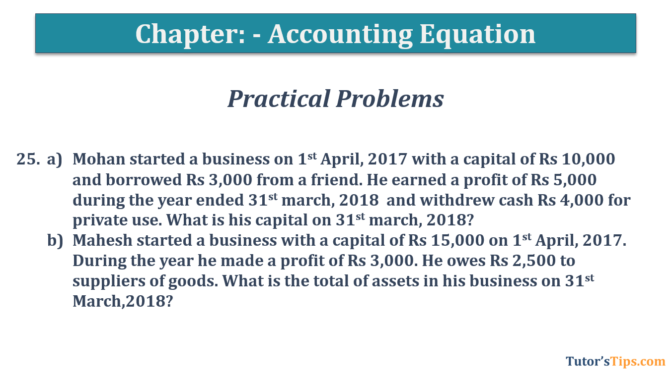 Question No.25 - Chapter No.5- T.S. Grewal +1 Book 2019