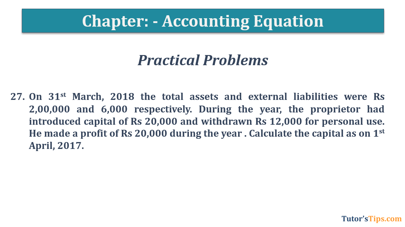 Question No.27 - Chapter No.5- T.S. Grewal +1 Book 2019