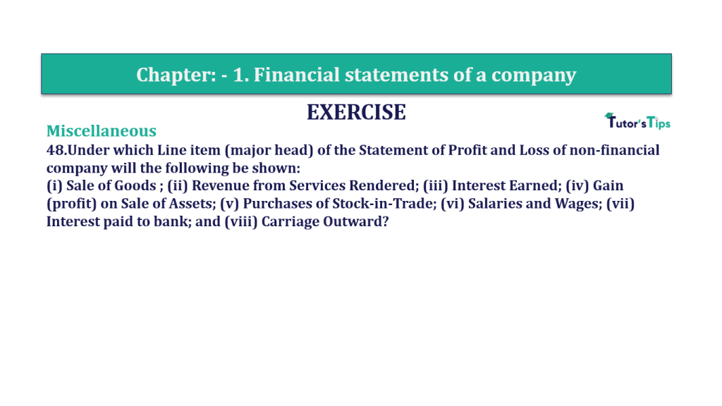 Question 48 Chapter 1 of +2-B