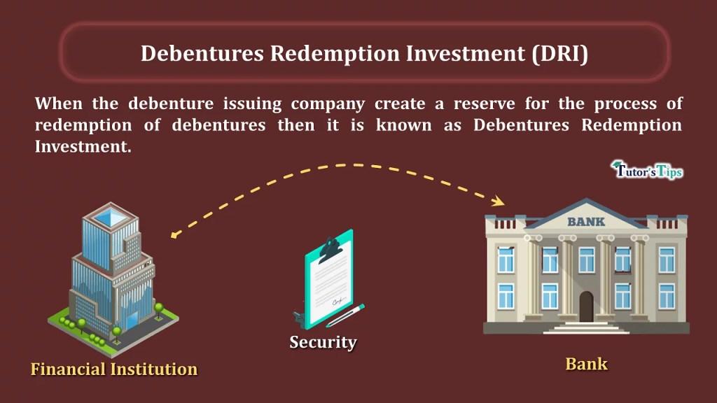 DRI min min - Debentures Redemption Investment (DRI)