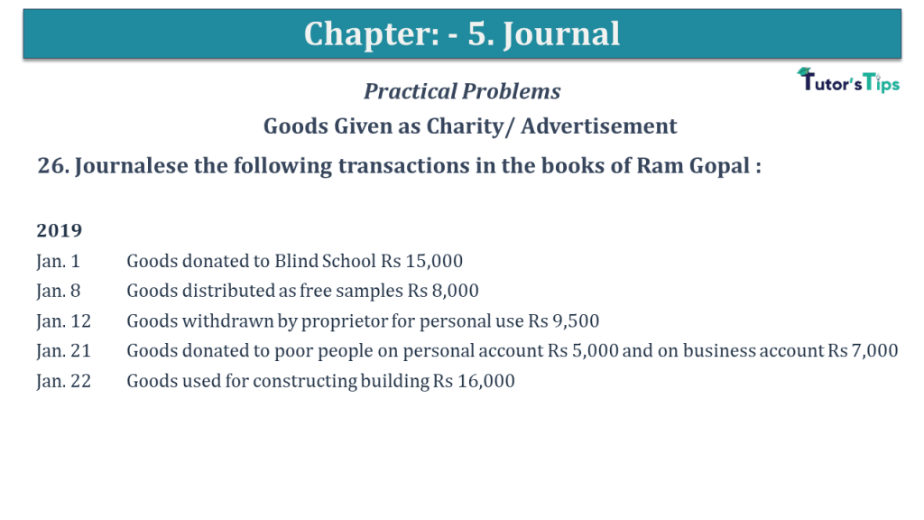 Question No 26 Chapter No 5