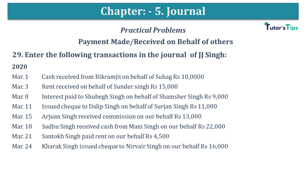 Question No 29 Chapter No 5