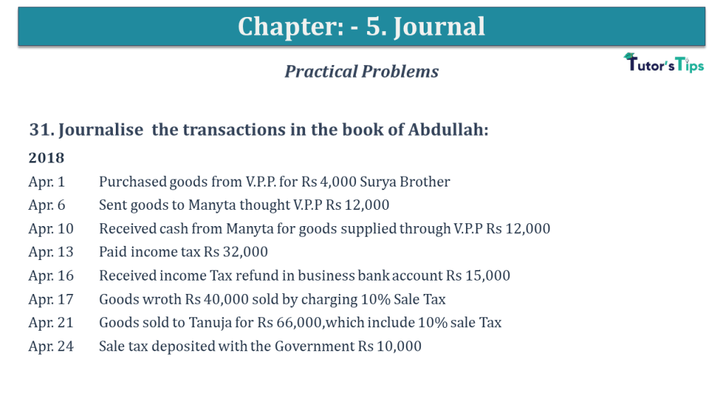 Question No 31 Chapter No 5