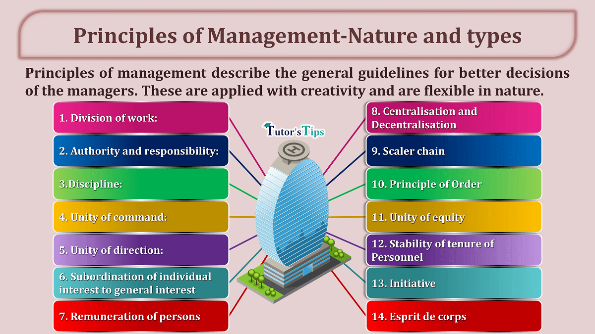 Principles of Management Nature and types min - Business Studies