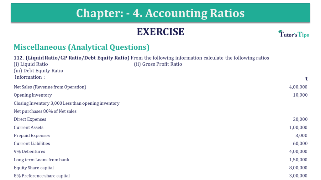 Question 112 Chapter 4 of +2-B