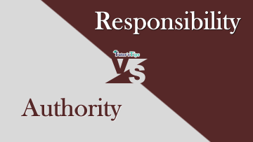 Difference between Authority and responsibilty min - Differences - Business Studies