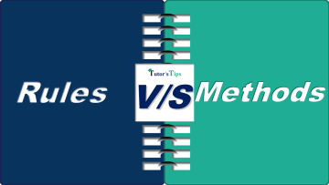 Difference between Rules and Methods min - Differences - Business Studies