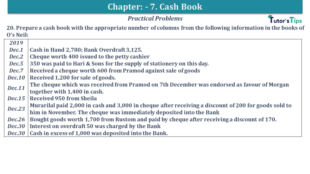 Question No 20 Chapter No 7