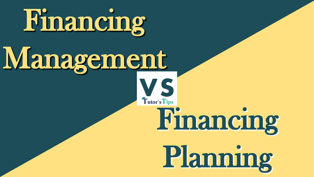 Difference between Financial Management and Financial Planning
