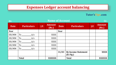 Expenses Ledger account balancing - Feature Image