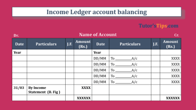 Income Ledger account balancing-Feature Image