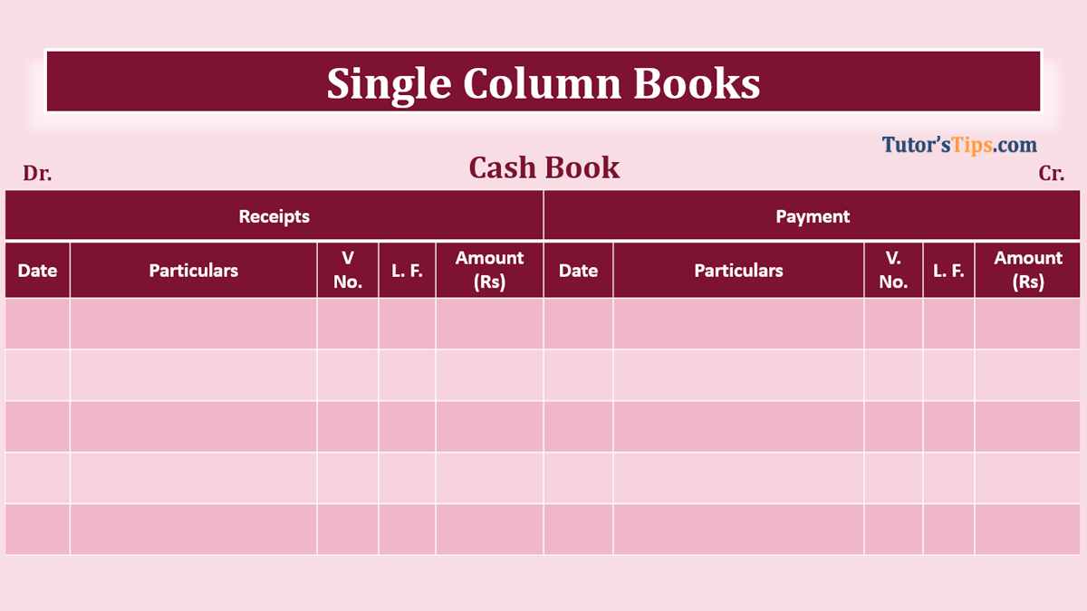 Single column Cash book feature image