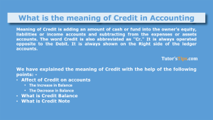 Meaning of Credit