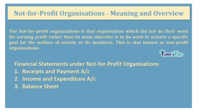 Not-for-Profit Organisations – Meaning and Overview