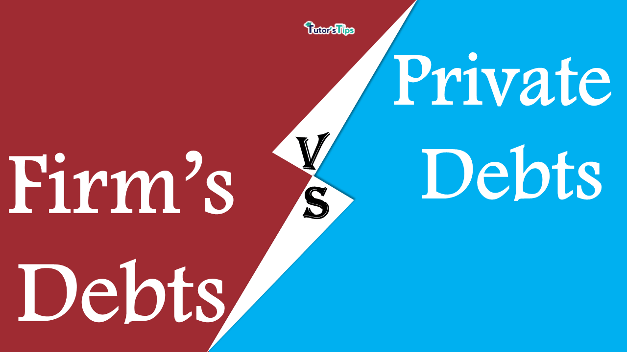 Firm's Debts and Private debts
