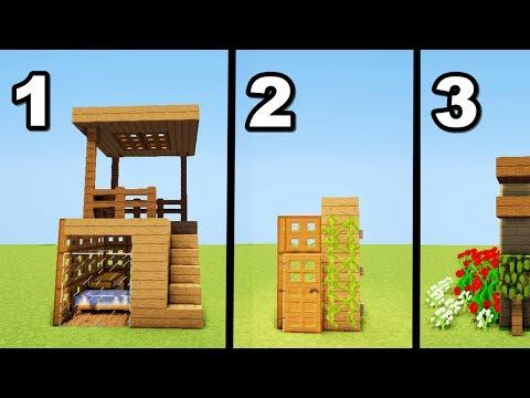 TUTO 3 MINI-MAISONS MINECRAFT  !! 2×2  3×3 et 4×4  !!