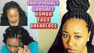 Crochet Bobbi Boss Bomba DreadLocks & Individual Faux Locs Tutorial