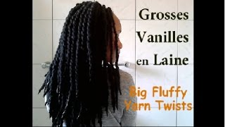 Grosses Vanilles en Laine / Big Fluffy Yarn Twists  -Démo-  (76)