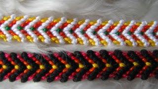 Comment faire le Bracelet brésilien motif  tigre GRRR (débutant)