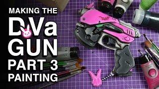 Painting with Acrylics – D.Va Gun Replica – Part 3