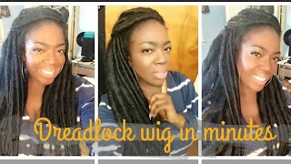 Dreadlock wig in minutes!