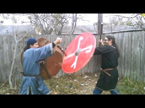 Viking Martial Arts Lesson 1 Sword Stuck in Shield Disarm?