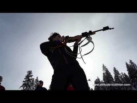 Vidéo Altitude Biathlon Week end d'initiation au biathlon à la  carabine 22 LR et tir à 50m mp4