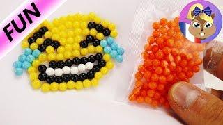 Faire un Smiley souriant avec des Aquabeads | Tutoriel | Joue avec moi