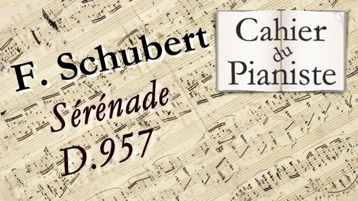 Apprendre F. Schubert – Sérénade D. 957 – Piano facile/easy