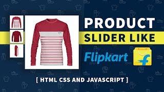 Product Image Slider Like Flipkart | Html CSS and Javascript