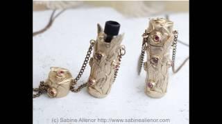 Cours de pâte d'argent – pâte de bronze – Réalisation d'un porte parfum. With english subtitle