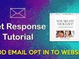 GetResponse Tutorial – Add in Email Opt-in & Pop-ups on WordPress Website
