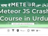 Web Development Crash Course 2018: Meteor Js Crash course in Urdu   Build Meteor Js CRUD Web App