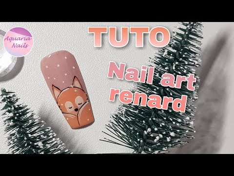 TUTO nail art renard
