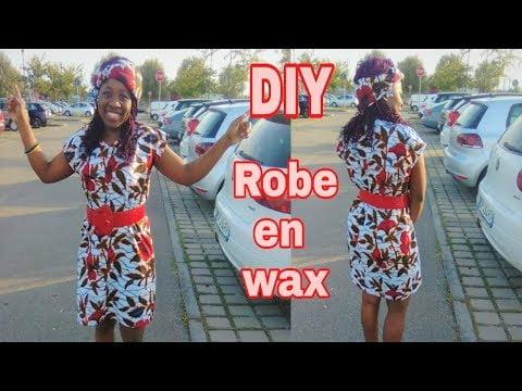 DIY ROBE FACILE EN TISSU AFRICAIN WAX [ 4 RECTANGLES ] DEBUTANT