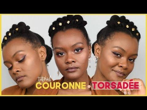 Tuto Coiffure Chic  Cheveux Crépus : Couronne «torsadée»