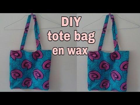 tuto [ tote bag double en tissu africain  wax ] facile  debutant