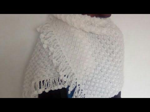 Tuto tricot : châle au tricot et au point ajouré