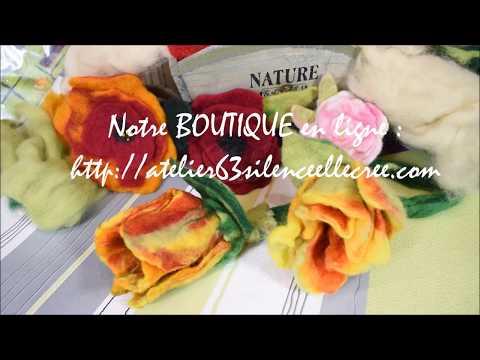 feutrage de la laine pour réaliser des tulipes, tutoriel loisirs créatifs