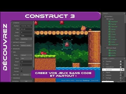 Découvrez | FR – Construct 3 : Créer des jeux vidéos sans code et partout !