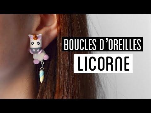 [TUTO Fimo] Boucles d'oreilles Licorne