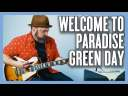 Green Day Welcome To Paradise Guitar Lesson + Tutorial