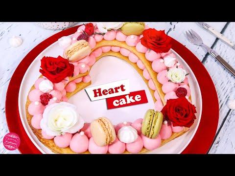 ❤ HEART CAKE ROSE FRAMBOISE POUR LA SAINT VALENTIN ❤