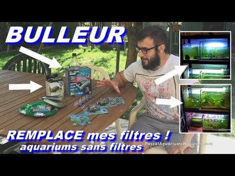 Bulleur à la place des Filtres ! Aquarium et batterie aquariums (fishroom)