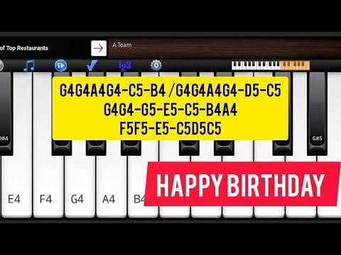 Happy birthday Piano tutorial in Hindi | Piano on Mobile