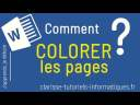 [Word] Comment colorer une page ?