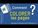 [Word] Comment colorer une page ?