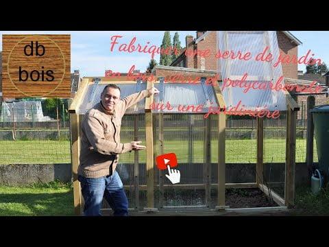 Fabriquer une serre de jardin en bois, verre et polycarbonate